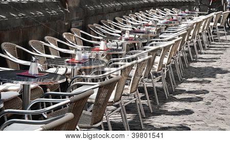 Street Cafe In The Sun