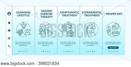 Systemic Exertion Intolerance Disease Therapy Onboarding Vector Template. Proper Diet. Symptomatic T