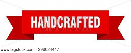 Hand Crafted Ribbon. Hand Crafted Paper Band Banner Sign