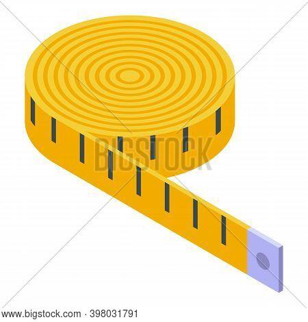 Clothing Repair Measurement Tape Icon. Isometric Of Clothing Repair Measurement Tape Vector Icon For