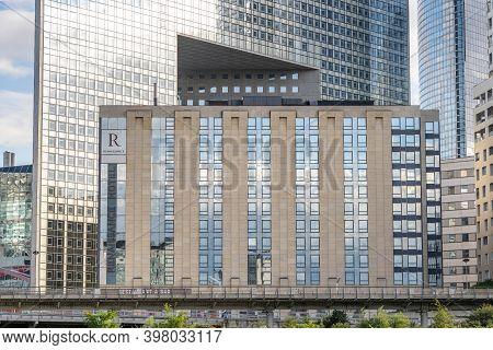 Paris, France - Jun 13, 2020: Renaissance Hotel Facade In La Defense