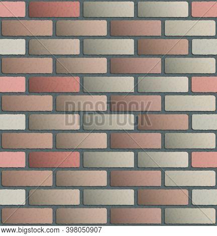 Brick Wall Seamless Pattern. Brickwork. Construction Background. Vector