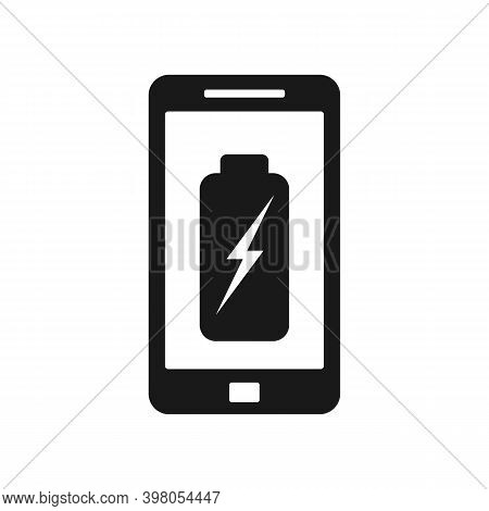 Cell Mobile Phone Battery Charging Vector Illustration,