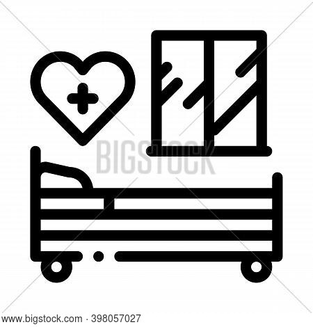 Prenatal Ward Maternity Hospital Black Icon Vector. Prenatal Ward Maternity Hospital Sign. Isolated