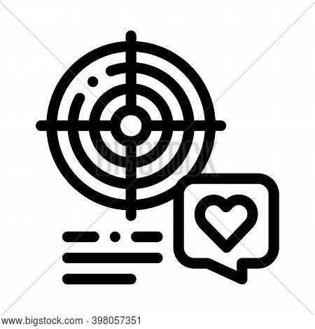 Shopper Target For Buy Products Black Icon Vector. Shopper Target For Buy Products Sign. Isolated Sy