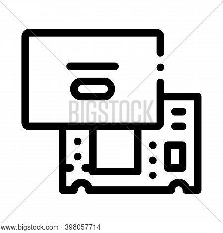Laptop Mainboard Black Icon Vector. Laptop Mainboard Sign. Isolated Symbol Illustration