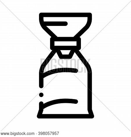 Air Bag For Asthmatic Black Icon Vector. Air Bag For Asthmatic Sign. Isolated Symbol Illustration