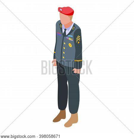 Military Uniform Combat Icon. Isometric Of Military Uniform Combat Vector Icon For Web Design Isolat