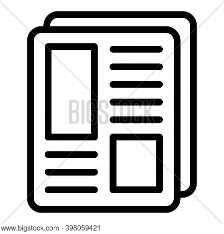 News Article Icon. Outline News Article Vector Icon For Web Design Isolated On White Background