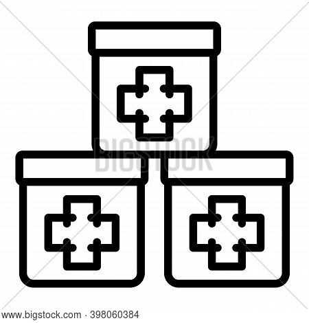 Medicinal Boxes Icon. Outline Medicinal Boxes Vector Icon For Web Design Isolated On White Backgroun