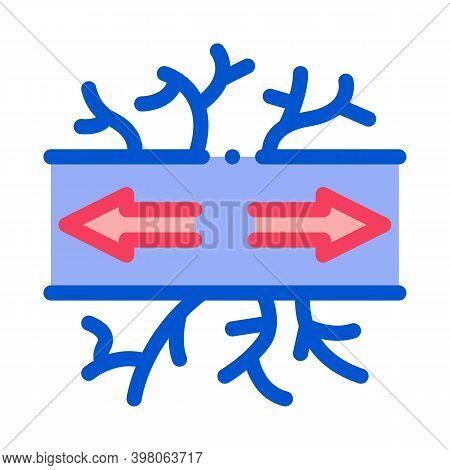 Damaged Vessel Varicose Disease Color Icon Vector. Damaged Vessel Varicose Disease Sign. Isolated Sy