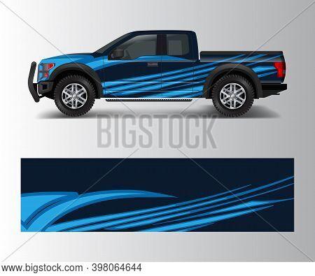 Modern Design For Truck Graphics Vinyl Wrap Vector