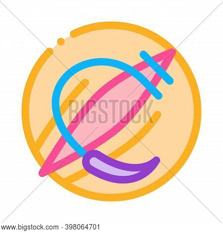 Tears During Childbirth Trauma Color Icon Vector. Tears During Childbirth Trauma Sign. Isolated Symb