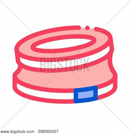 Bump Stop Karting Track Color Icon Vector. Bump Stop Karting Track Sign. Isolated Symbol Illustratio