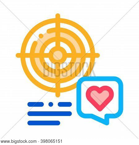 Shopper Target For Buy Products Color Icon Vector. Shopper Target For Buy Products Sign. Isolated Sy