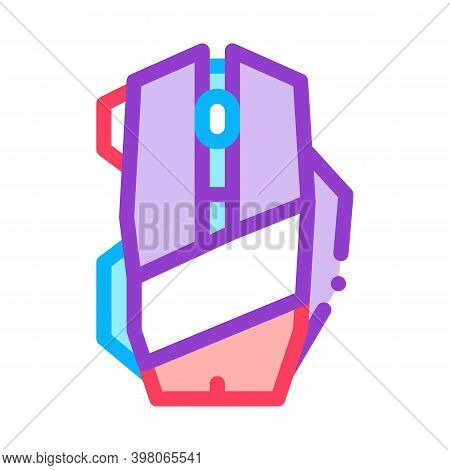 Mouse Computer Device Color Icon Vector. Mouse Computer Device Sign. Isolated Symbol Illustration
