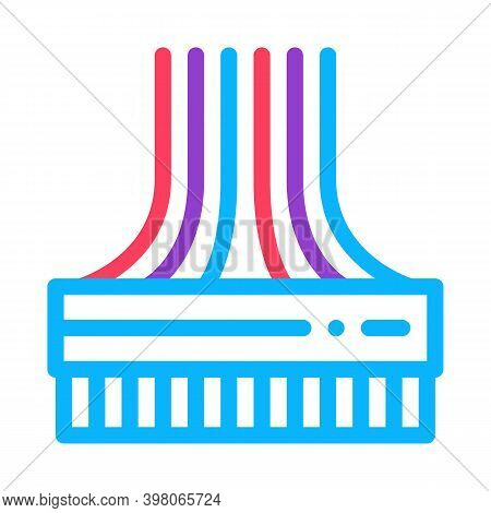Computer Wires Color Icon Vector. Computer Wires Sign. Isolated Symbol Illustration
