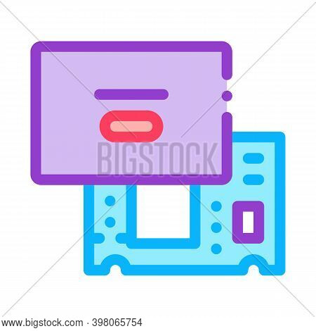 Laptop Mainboard Color Icon Vector. Laptop Mainboard Sign. Isolated Symbol Illustration