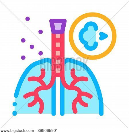 Asthma Attack Color Icon Vector. Asthma Attack Sign. Isolated Symbol Illustration