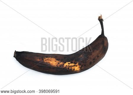 A Picture Of An Ordinary Overripe Banana. It Looks Ugly, But Still Can Be Sweet And Good To Eat.