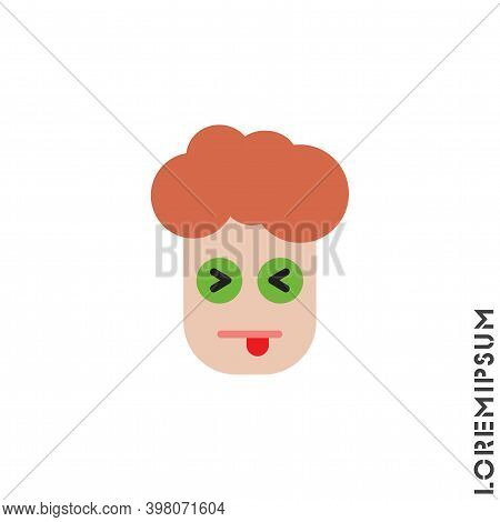 Squinting Face With Tongue Color Boy, Man Icon. Style Sign For Mobile Concept And Web Design. Teasin