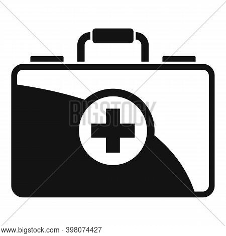First Medical Aid Kit Icon. Simple Illustration Of First Medical Aid Kit Vector Icon For Web Design