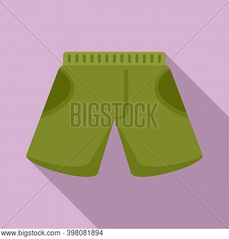 Fisherman Green Shorts Icon. Flat Illustration Of Fisherman Green Shorts Vector Icon For Web Design