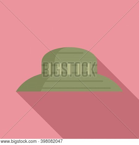 Hunter Hat Icon. Flat Illustration Of Hunter Hat Vector Icon For Web Design