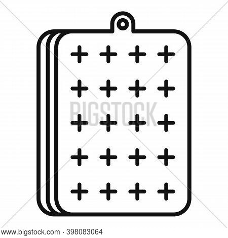Bedding Inflatable Mattress Icon. Outline Bedding Inflatable Mattress Vector Icon For Web Design Iso