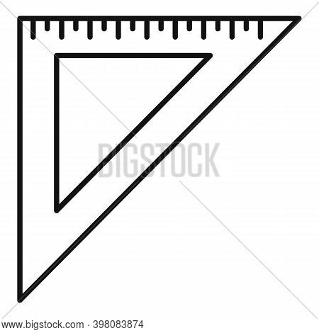 Angle Metric Ruler Icon. Outline Angle Metric Ruler Vector Icon For Web Design Isolated On White Bac