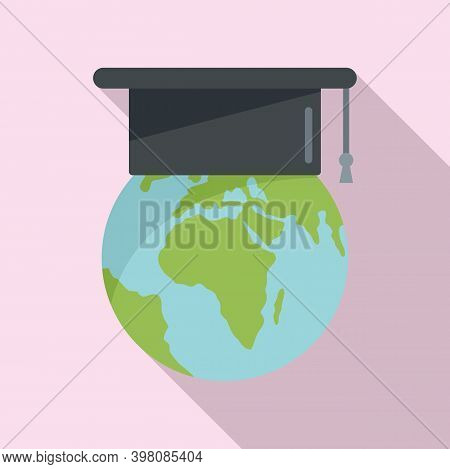 Global Linguist Icon. Flat Illustration Of Global Linguist Vector Icon For Web Design