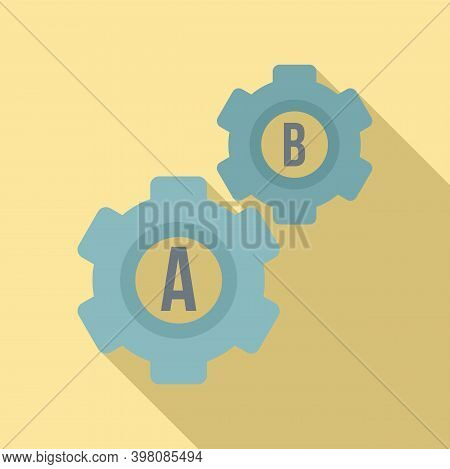 Gear Wheel Linguist Icon. Flat Illustration Of Gear Wheel Linguist Vector Icon For Web Design