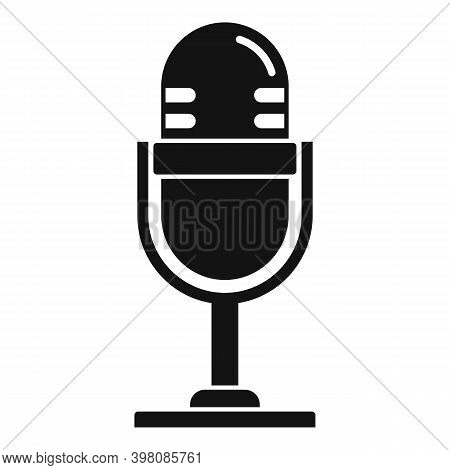 Linguist Microphone Icon. Simple Illustration Of Linguist Microphone Vector Icon For Web Design Isol