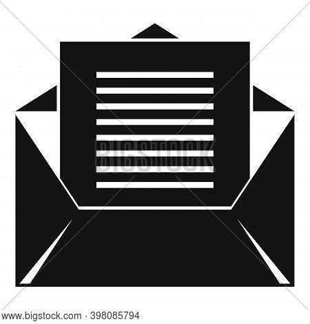 Linguist Envelope Icon. Simple Illustration Of Linguist Envelope Vector Icon For Web Design Isolated