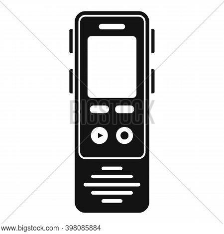 Linguist Dictaphone Icon. Simple Illustration Of Linguist Dictaphone Vector Icon For Web Design Isol