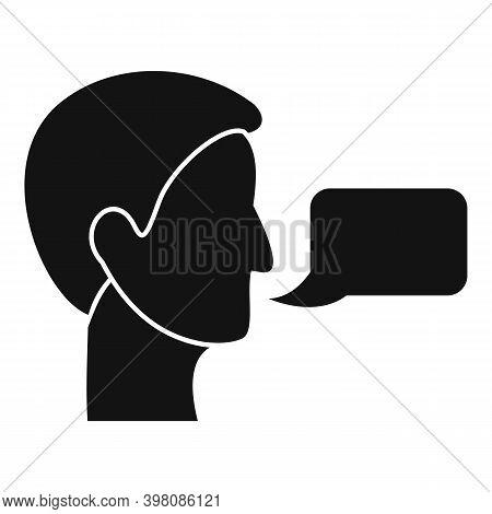 Linguist Translator Icon. Simple Illustration Of Linguist Translator Vector Icon For Web Design Isol
