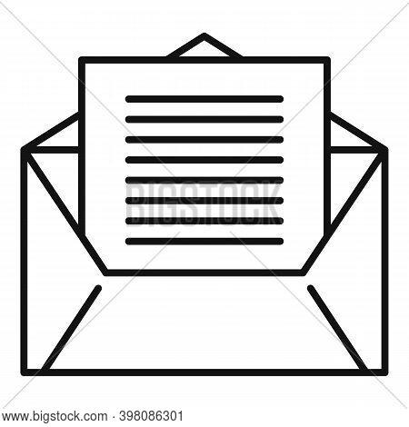 Linguist Envelope Icon. Outline Linguist Envelope Vector Icon For Web Design Isolated On White Backg