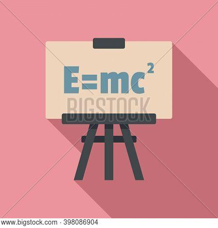 Physics Formula Icon. Flat Illustration Of Physics Formula Vector Icon For Web Design