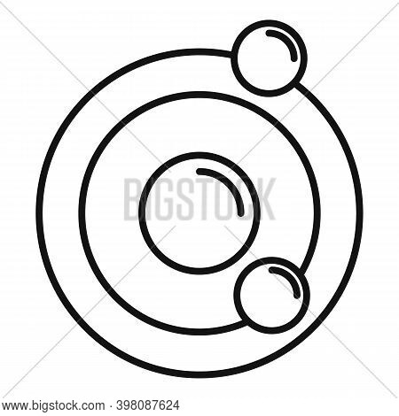 Biophysics Atom Icon. Outline Biophysics Atom Vector Icon For Web Design Isolated On White Backgroun
