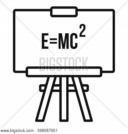 Physics Formula Icon. Outline Physics Formula Vector Icon For Web Design Isolated On White Backgroun