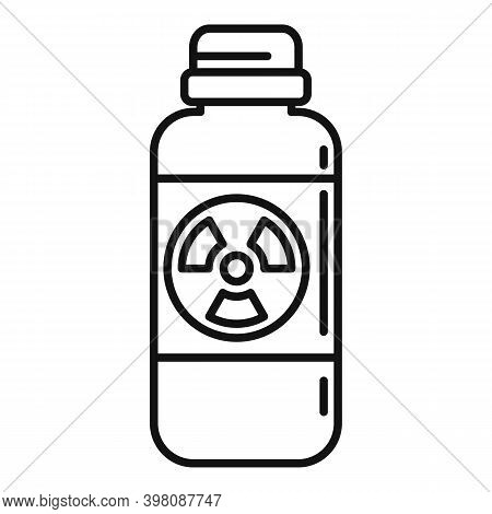 Atomic Bottle Icon. Outline Atomic Bottle Vector Icon For Web Design Isolated On White Background