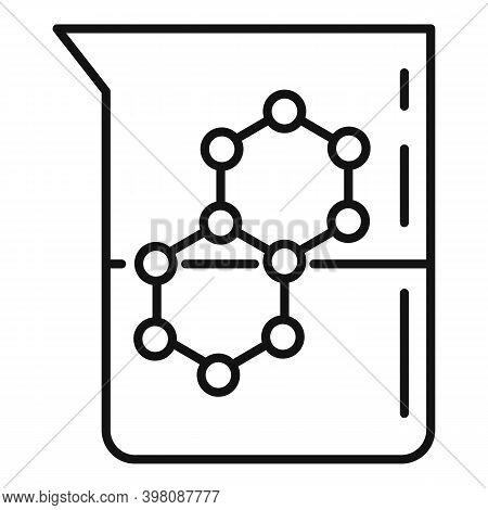 Chemistry Flask Formula Icon. Outline Chemistry Flask Formula Vector Icon For Web Design Isolated On