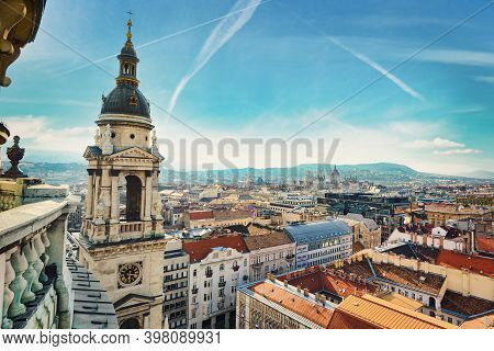 View On Budapest From St. Istvans Basilica, Hungary