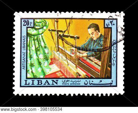 Lebanon - Circa 1978 : Cancelled Postage Stamp Printed By Lebanon, That Shows Weaver, Circa 1978.