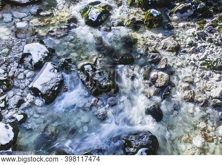 Mountain Stream In Triglav National Park In Slovenia