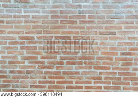 Old Brick Wall Texture.seamless Stonewall Background.vintage Orange Brickwork Architecture Surface.