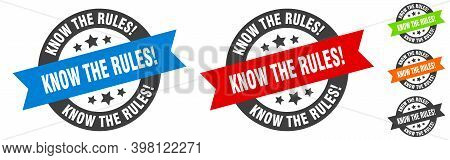Know The Rules Stamp. Know The Rules Round Ribbon Sticker. Tag