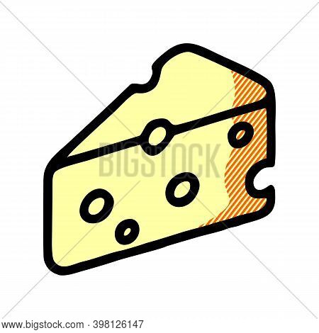 Cheese Icon Isolated On White Background From Gastronomy Collection. Cheese Icon Trendy And Modern C