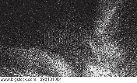 Gradient Pixelated Texture Fade. Halftone Screen Dot Vector. Screen Fade Pixel Halftone. Dots Gradie