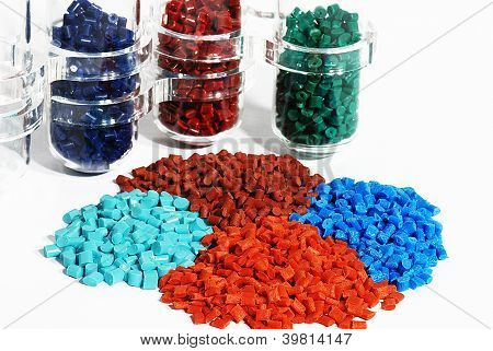 polymer resin with samples